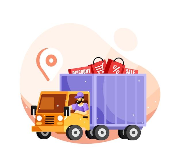 Caminhão de serviço de entrega