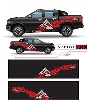 Caminhão decalque envoltório projeto vector.