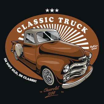 Caminhão marrom clássico