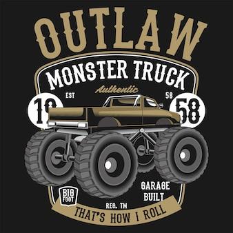 Caminhão monstro fora da lei