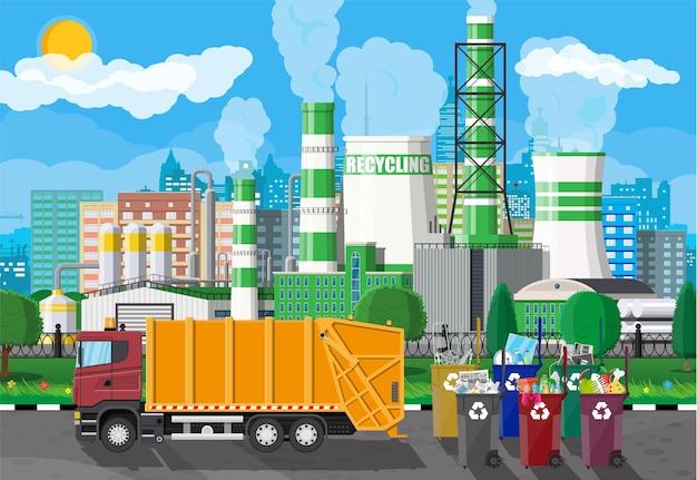 Caminhão para montagem, transporte de lixo.