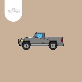 Caminhão pick up vector truck pick up cartoon