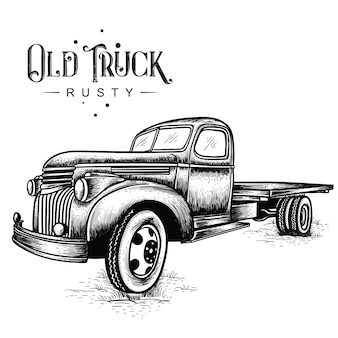 Caminhão velho enferrujado