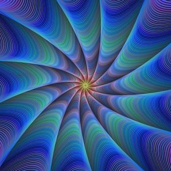 Caminho para a meditação - fundo fractal azul