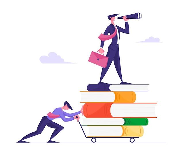 Caminho para o sucesso, visão empresarial e conceito de educação