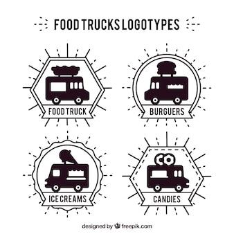 Caminhões de alimentos logotipos