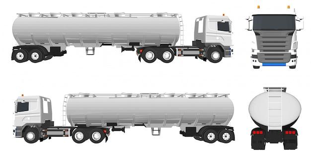 Caminhões de petróleo e caminhões para trabalhos de construção