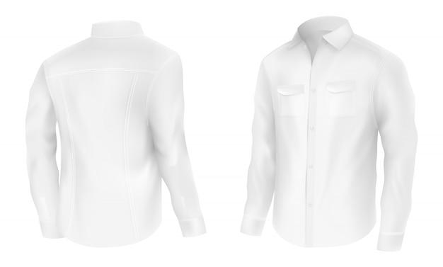 Camisa branca mens clássico