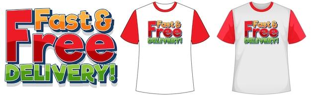 Camisa com design de entrega