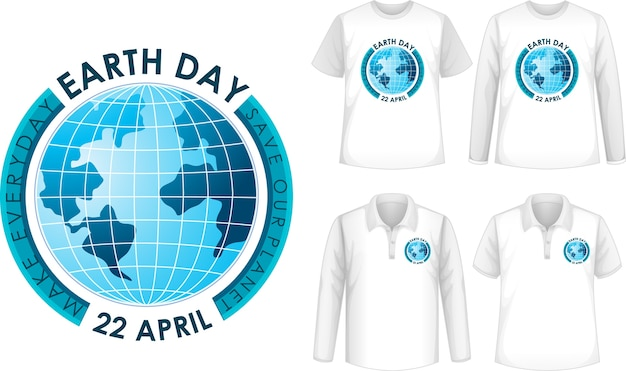 Camisa com design do dia da terra