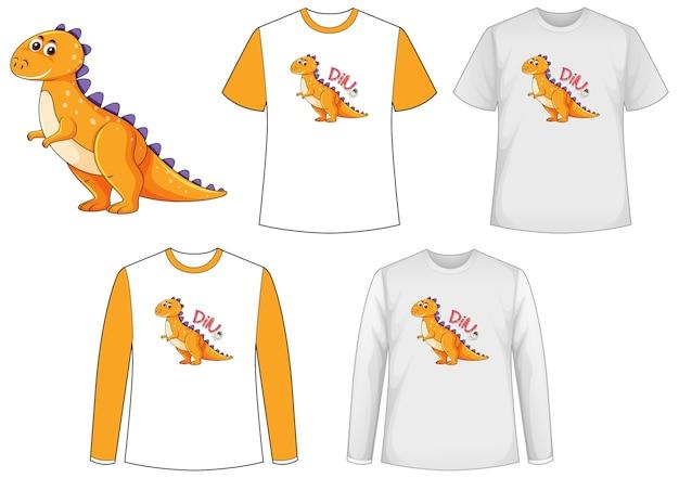 Camisa com personagem de desenho animado de dinossauro