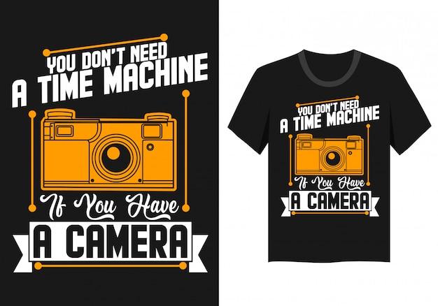 Camisa das citações da câmera t