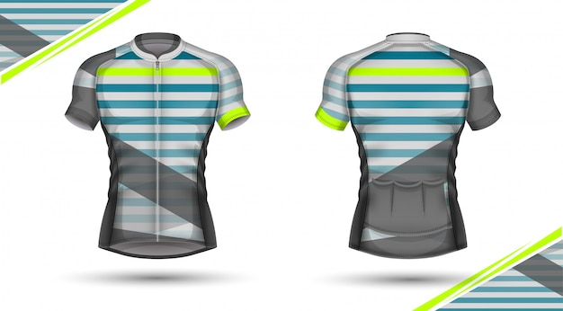 Camisa de ciclismo, frente e verso