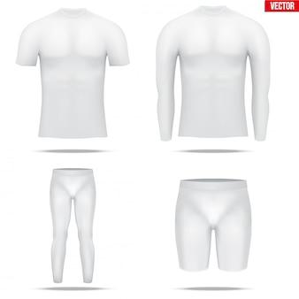 Camisa de compressão sob a camada com manga longa de tecido térmico