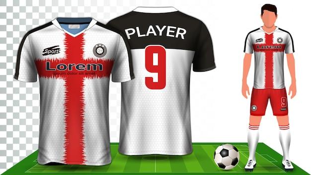 Camisa de esporte ou uniforme de kit de futebol.