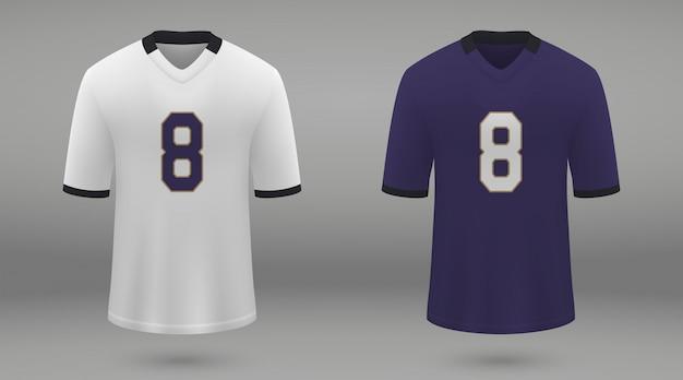Camisa de futebol americano realista