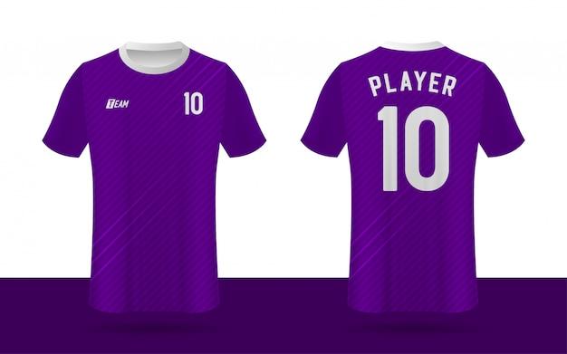 Camisa de futebol, camisa de futebol, modelo de equipe de esporte frente e verso