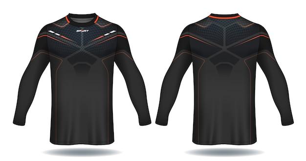 Camisa de futebol de manga longa template.sport design de t-shirt.