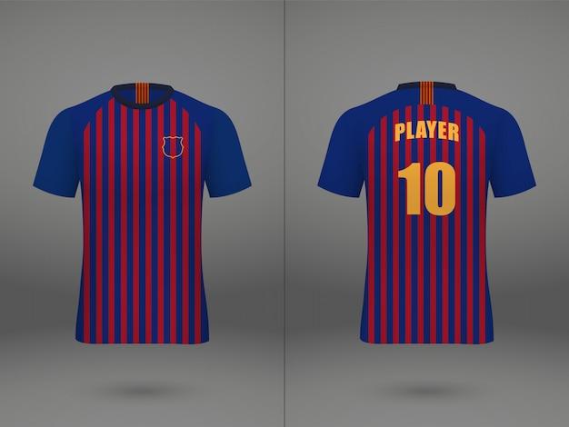 Camisa de futebol modelo realista