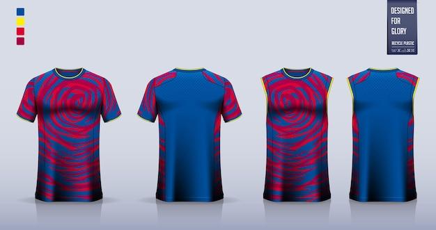 Camisa de futebol ou design de modelo de maquete de kit de futebol top regata para camisa de basquete ou camiseta de corrida