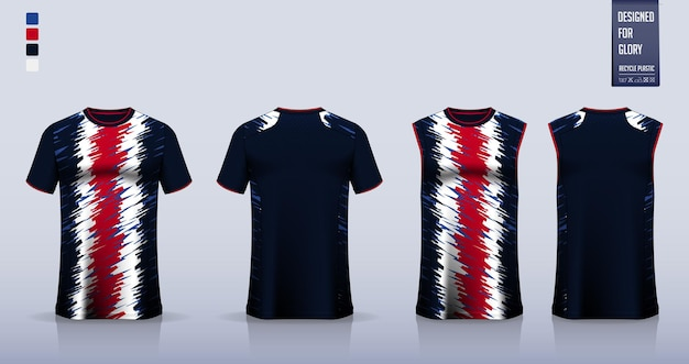 Camisa de futebol ou design de modelo de maquete de kit de futebol top regata para camisa de basquete ou corrida
