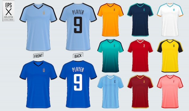 Camisa de futebol ou kit de futebol