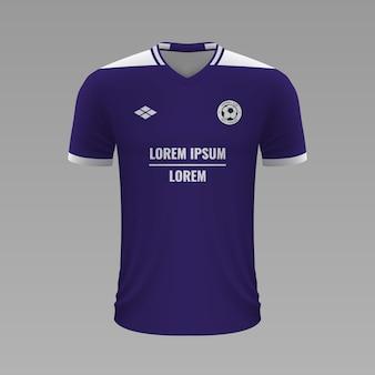 Camisa de futebol realista anderlecht, modelo de camisa para kit de futebol
