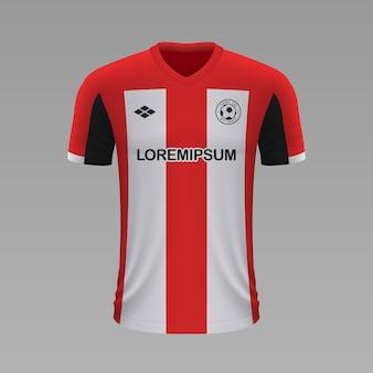 Camisa de futebol realista athletic bilbao, modelo de camisa para o kit de futebol.
