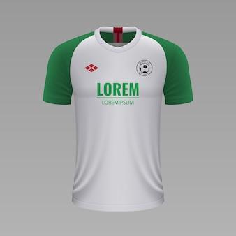 Camisa de futebol realista augsburg, modelo de camisa para kit de futebol