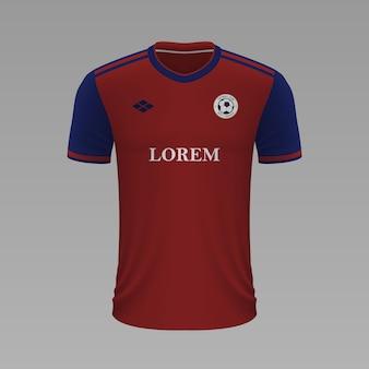 Camisa de futebol realista basel, modelo de camisa para kit de futebol