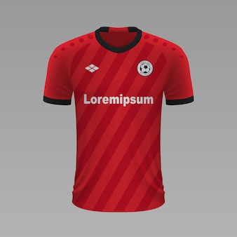 Camisa de futebol realista bayer leverkusen, modelo de camisa para kit de futebol