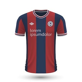 Camisa de futebol realista bologna 2022, modelo de camisa para futebol