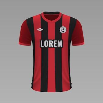 Camisa de futebol realista bournemouth, modelo de camisa para o kit de futebol.