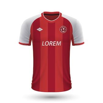 Camisa de futebol realista braga 2022, modelo de camisa para futebol