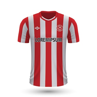 Camisa de futebol realista brentford 2022, modelo de camisa para footb