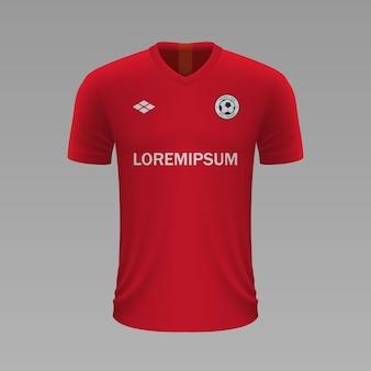 Camisa de futebol realista brest, modelo de camisa para o kit de futebol.