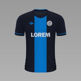 Camisa de futebol realista brugge, modelo de camisa para kit de futebol