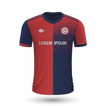 Camisa de futebol realista cagliari 2022, modelo de camisa para footba