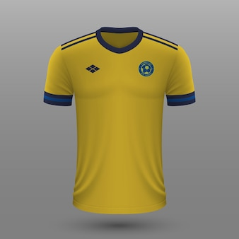 Camisa de futebol realista da suécia