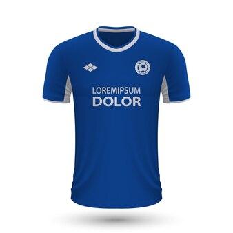 Camisa de futebol realista empoli 2022, modelo de camisa para futebol