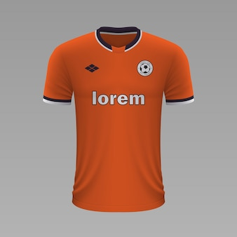 Camisa de futebol realista istambul, modelo de camisa para kit de futebol