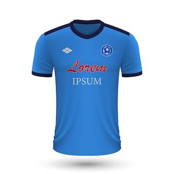 Camisa de futebol realista napoli 2022, modelo de camisa para futebol
