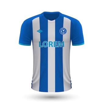 Camisa de futebol realista porto 2022, modelo de camisa para futebol