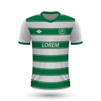 Camisa de futebol realista sporting 2022, modelo de camisa para footba