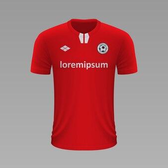 Camisa de futebol realista toluca, modelo de camisa para kit de futebol