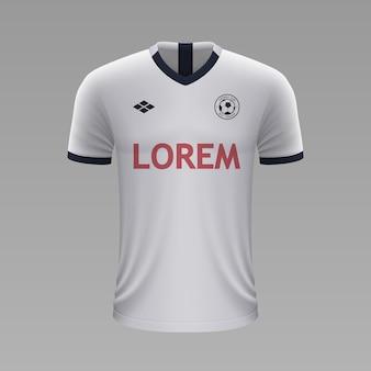 Camisa de futebol realista tottenham, modelo de camisa para kit de futebol.
