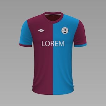 Camisa de futebol realista trabzonspor, modelo de camisa para kit de futebol