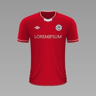 Camisa de futebol realista union berlin, modelo de camisa para kit de futebol