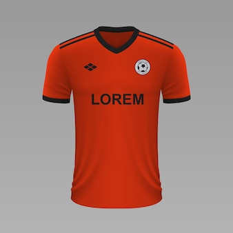 Camisa de futebol realista ural, modelo de camisa para kit de futebol