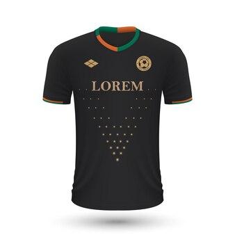 Camisa de futebol realista venezia 2022, modelo de camisa para futebol